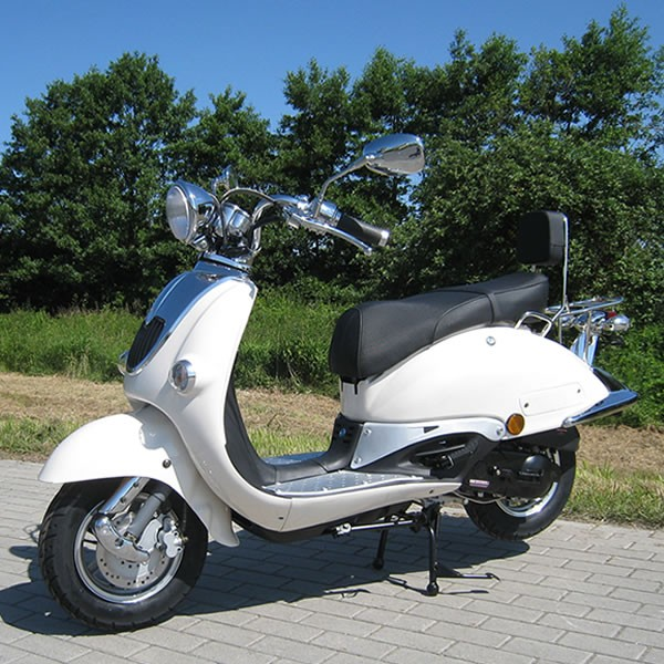 Retro Scooter ZN50QT weinrot OHNE Koffer
