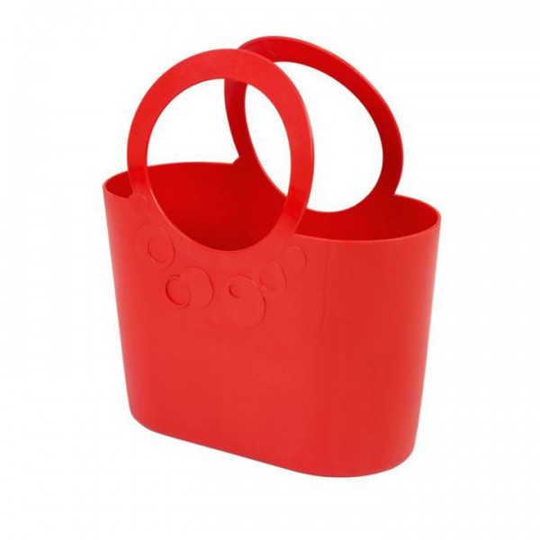 Mehrzweck Plastik Tasche LILY corall rot