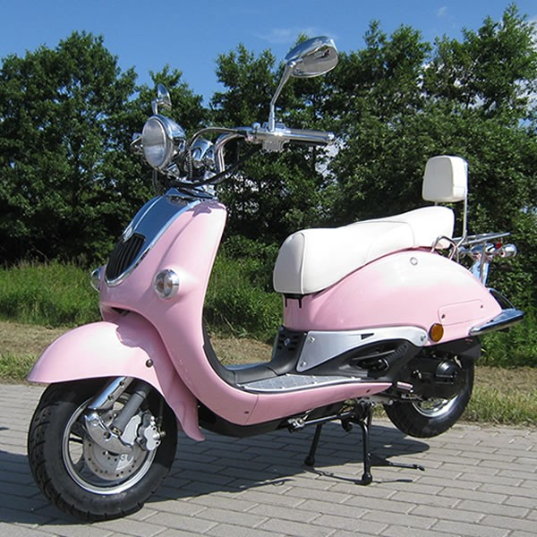 Retro Scooter ZN50QT pink OHNE Koffer