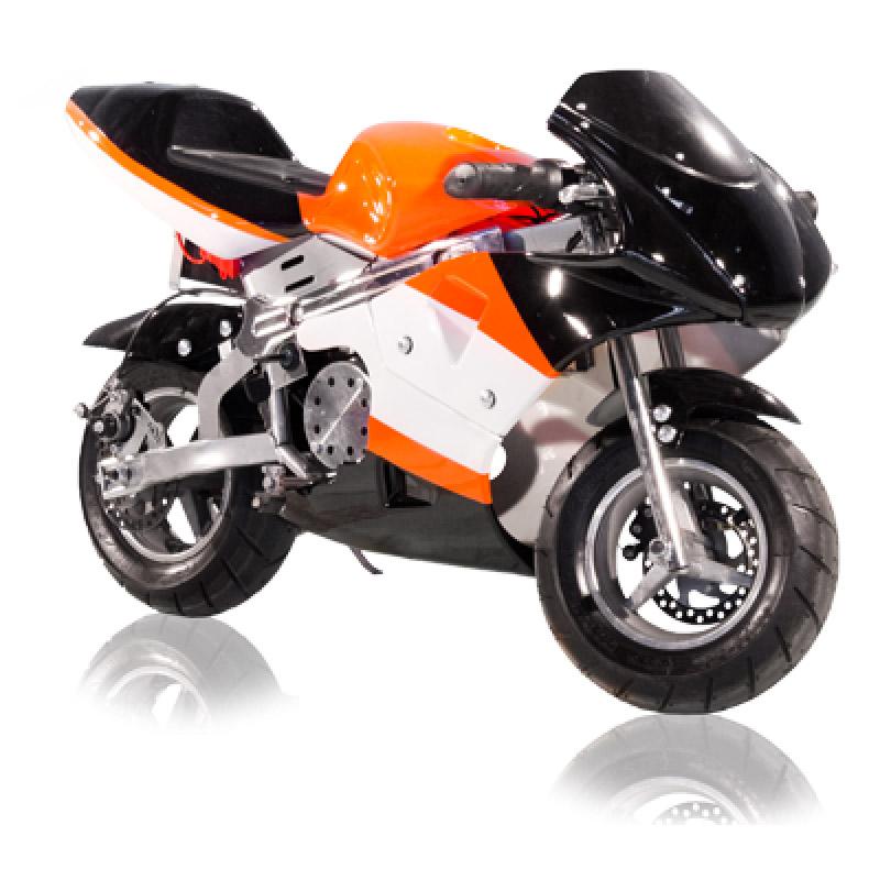 e pocket bike 500w farbe orange schwarz lineup24. Black Bedroom Furniture Sets. Home Design Ideas