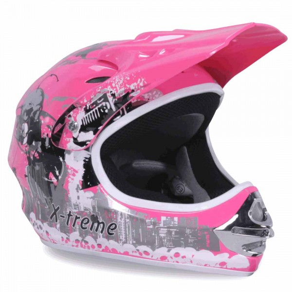 Kinder Crosshelm X-treme Cross Gr XS - XXL pink