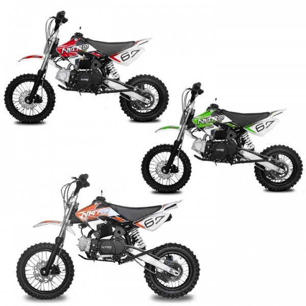"125cc Dirtbike STORM 14/12"" Zoll in 3 Farben"