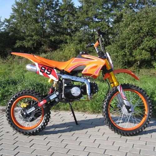 dirtbike dirt bike 125 ccm 17 14 cross full pocket enduro 125cc orange 4260418140866 ebay. Black Bedroom Furniture Sets. Home Design Ideas