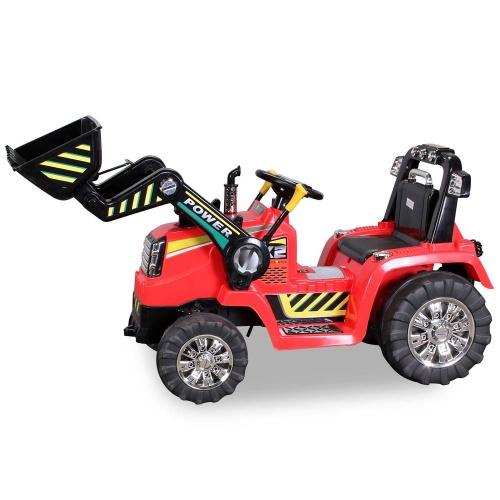 kinder elektro bagger zp10005 rot traktor kinderauto. Black Bedroom Furniture Sets. Home Design Ideas